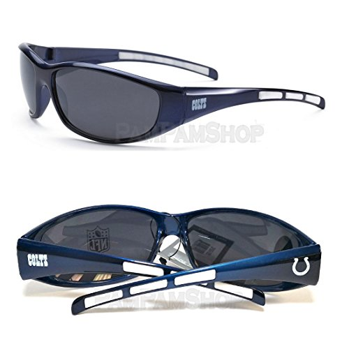 NFL Football 3 Dot Sports Wrap Sunglasses - Team Logo / Indianapolis - Dot Sunglasses Three