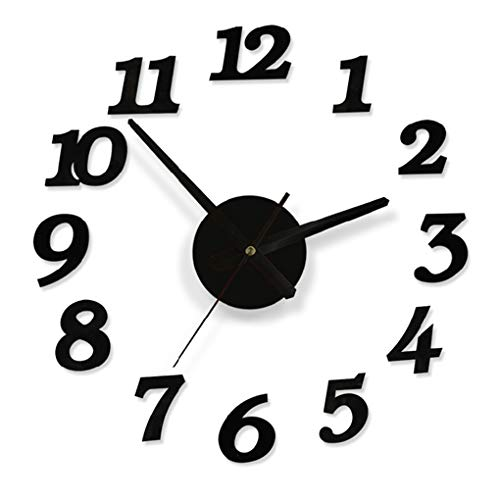 LANHSTORE Promotion 2019 New Home Decor Large Roman Fashion Modern Clocks living Room Diy wall Clock ()