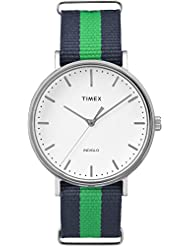 Timex TW2P90800GP Weekenders Unisex Adult Classic Analog-Quartz Wrist Watch, White Dial/Blue Strap