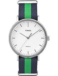 Timex TW2P90800GP Weekenders Unisex Adult Classic Analog-Quartz Wrist Watch, White Dial/Blue Strap