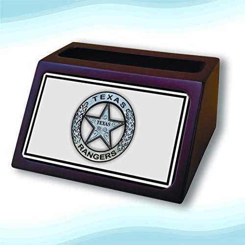 (Texas Ranger Badge Wooden Business Cardholder)