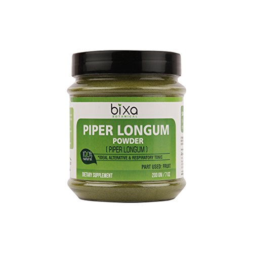 Piper Longum Powder (Pippali) – 200g (7 Oz)   an Ideal Alterative & Respiratory Tonic, Ayurvedic Herbal Supplement for Carminative, Anti-Helminthic & Prevents bloatingness of Stomach