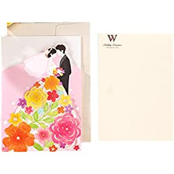 50pcs Wedding Invitations Cards Romantic Garden Bride Groom Wedding Greeting Cards Event Party Supplies