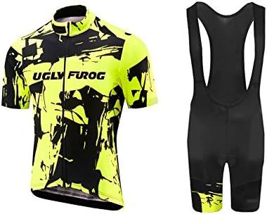 Uglyfrog Bike Wear De Manga Corto Conjunto Traje Equipacion Ciclismo Hombre Verano con 3D Acolchado De Gel, Maillot Ciclismo + Pantalon/Culote Bicicleta para MTB Ciclista Bici: Amazon.es: Deportes y aire libre