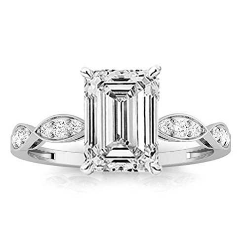 0.75 Ct Emerald Cut Diamond - 9