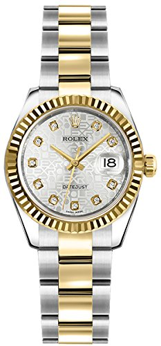 Crown Rolex (Women's Rolex Lady-Datejust 26 Gold and Stainless Steel Diamond Watch (Reference. 179173))