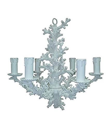 Mariana home 430610 snow coral chandelier 14 x 14 x 2125 white mariana home 430610 snow coral chandelier 14quot x 14quot aloadofball Gallery