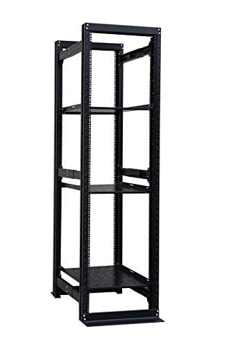 Raising Electronics 42U 19'' 4 Post Open Frame Adjustable IT Network Data Server Rack Enclosure ()
