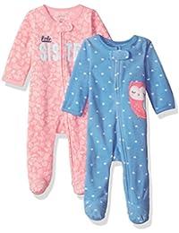 2-Pack de las niñas del carter Microfleece Dormir y Jugar