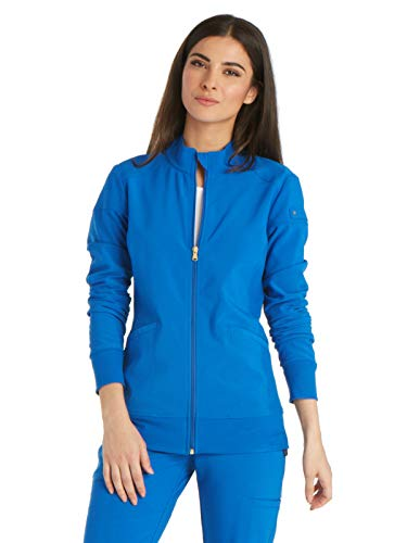 Cherokee iFlex CK303 Zip Front Warm-Up Jacket Royal - Sleeve Tops Scrub Long