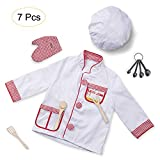 Leiyini Chef Role Play Costume Cooking Dress-up Set Kitchen Pretend Play Toy Toddlers Kids