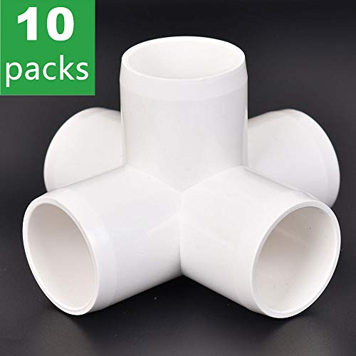 5-Way 1 inch PVC Fitting,Tee Pipe Fittings PVC Connectors - Build Heavy Duty Furniture Grade for 1 inch Size Pipe,White [Pack of - Fittings Pvc Manufacturers