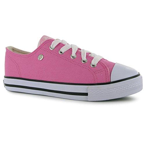 Dunlop Kinder Jungen Canvas Turnschuhe Sneakers Freizeit Schuhe Leinenschuhe Rosa