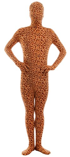 Marvoll Lycra Spandex Leopard Full Bodysuit Zentai Halloween Costume (Kids Medium, Leopard)