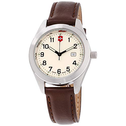 Victorinox Garrison Beige Dial Leather Strap Ladies Watch 26029CB