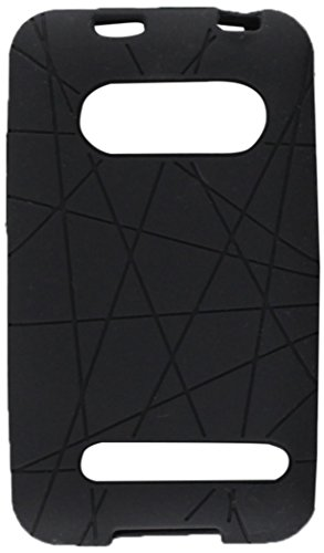 ect Fit Soft Silicon Gel Protector Skin Cover Rubber Cell Phone Case With Screen Protector for HTC Evo 4G Sprint-Black ()