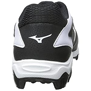Mizuno Women's 9 Spike ADV Finch 6 Fast Pitch Molded Softball Cleat, Black/White, 8.5 M US