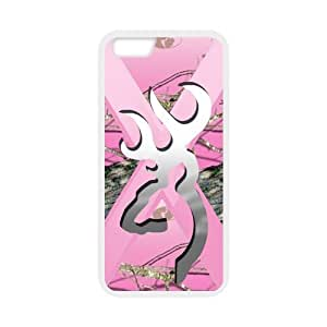 Pink Camo Camouflage Browning Cutter Silver Custom Case Cover of iPhone6 iPhone 6 4.7 by ruishername