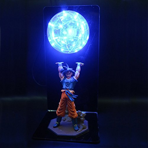 KAKALIN Dragon Ball Z SON GOKU Super Spirit Bomb Genki Dama Led Light Lamp Action Figure Whole Set (Blue) (Dragon Ball Z Majin Vegeta Vs Majin Buu)