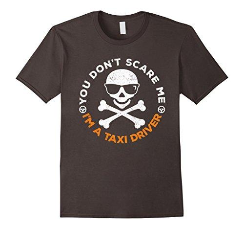 Cab Driver Costume (Mens You Don't Scare Me Taxi Cab Driver Halloween Costume Shirt Medium Asphalt)