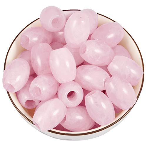 Nupuyai Large Hole Stone Loose Beads for Jewelry Making Pack of 30, Polished Rondelle European Beads fit Charms Bracelet