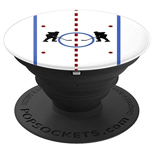 Hockey Players Rink Cool Ice Hockey Player Gift PopSockets Grip and Stand for Phones and Tablets