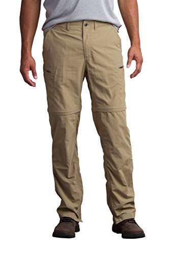 ExOfficio Men's Sol Cool Camino Convertible Pants, Walnut, 38