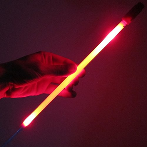 Glow Products Light Up LED Marker Ground Stakes (Set of 12) - LED Light Stick Markers (Red)