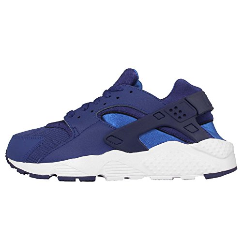 nike huarache run (GS) trainers 654275 sneakers shoes (5 M US BIG KID, deep royal blue hyper cobalt 404)
