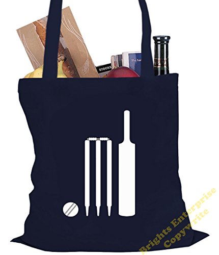 original 10 bag 42 of from Shopping range Size Bag Beach bat image tote litres Tote stumps cricket unique a An reuseable x Gym silhouette 35 ball or Christmas Blue stoc Birthday with our 38 and cm RAqZpzx