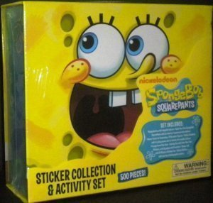 Paper Magic Sponge Bob SquarePants Sticker Collection and Activity Set (Decal Spongebob Set)