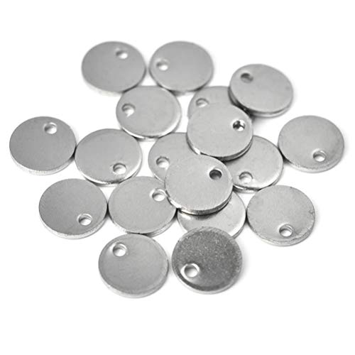 (Stainless Steel Blank Stamping Tag Pendants for Bracelet Earring Charms Holiday Wedding Home Decoration 15mm 30pcs )