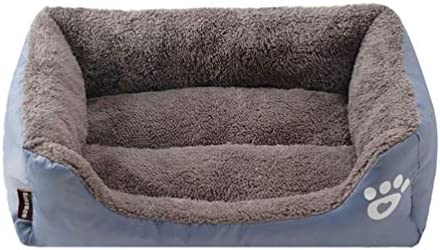 Zhongde Dog Bed for Small Medium Large Dogs, Crate Mattress for Puppy and Cats, Fluffy Plush Sleeping Couch Mat, Antislip Washable Pet Sofa Beds with Multiple Candy Colors