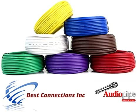 Trailer Light Hook Up >> Amazon Com Trailer Light Cable Wiring Harness 50ft Spools 14 Gauge