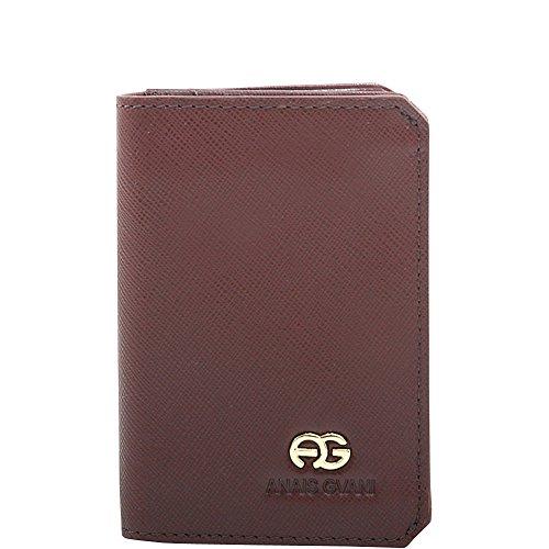 Cut Brown Grain Wallet with Fine Leather Genuine Corners Men's Dasein A7qy0w6SfW