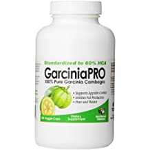 Absolute Nutrition Appetite Control and Fat Burning Supplement, 100% Pure Garcinia Cambogia, Garcinia PRO, 180 Veggie Caps