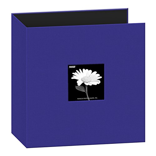 Pioneer Memory Album - Pioneer 8 1/2 Inch by 11 Inch 3-Ring Fabric Frame Cover Memory Binder, Cobalt Blue