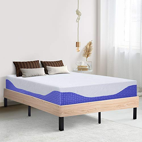Ecos Living 12 Inch Multi Layered Comfort Memory Foam Mattress Queen