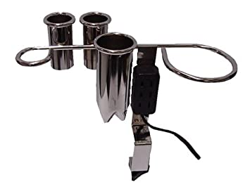 Appliance Holder Holds Dryer 3-irons Electrified Clamp-on Style Cb5-e Chrome Finish