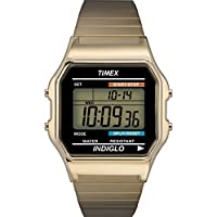 Men's T78677 Classic Digital Gold-Tone Stainless Steel Expansion Band Watch