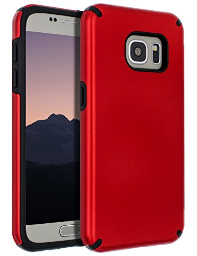 Samsung Galaxy S7 Case,Galaxy S7 Case,SENON Slim-fit Shockproof Anti-Scratch Anti-Fingerprint Protective Case Cover for Samsung Galaxy S7,Red ()