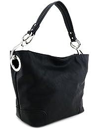 aa6a069af1 Hobo Shoulder Bag with Big Snap Hook Hardware