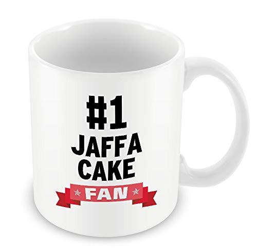 #1 Jaffa Cake Fan Mug Heart Gift Idea Christmas Funny Coffee Cup food biscuit ()