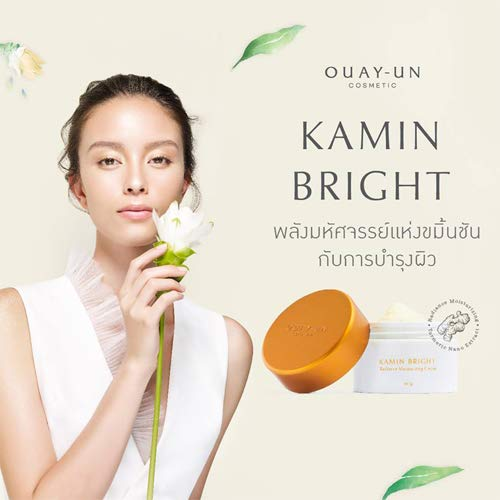 Kamins Cream Day (Kamin Bright Radiance Moisturizing Cream with Turmeric Nano Extract, Coenzyme Q10 Beads From Switzerland 50g. [Get Free Beauty Gift For You])