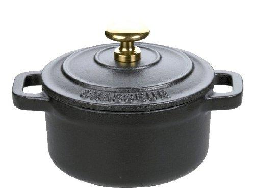 Chasseur Mini Cast Iron Dutch Oven, Black