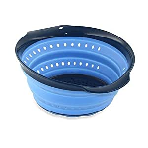 Squish™ 4-Quart Collapsible Colander in Light Blue/Blueberry