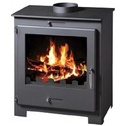 Estufa de leña chimenea moderno sólido Log quemador agua chaqueta 11 kW