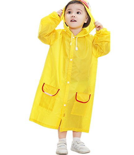 Yougao Unisex Waterproof Jacket Outwear Raincoat Suits for Little Kid/Big Kid Age for 3-6Y Yellow Duck