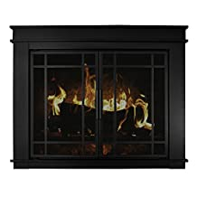 Pleasant Hearth Fillmore Glass Firescreen, Medium