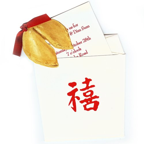 Fortune Cookie Invitations - Fortune Cookie Die-cut Card, Pack of 10